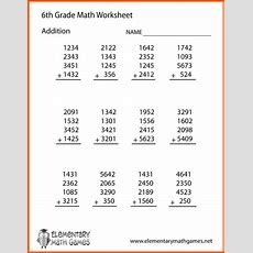 Math Worksheet 6th Grade  Writings And Essays