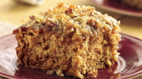 applesauce oatmeal cake  broiled coconut topping