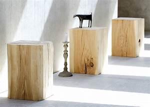 table tronc de bois en chêne très tendance chez ksl living