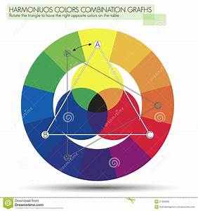 Graph For The Triangle Or Primary Colors Stock Photos