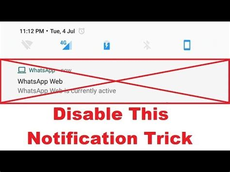 how to disable whatsapp web is currently active