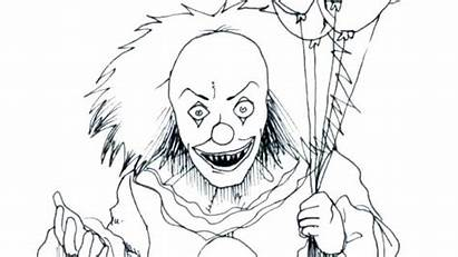 Clown Coloring Pages Scary Clowns Getcolorings Printable