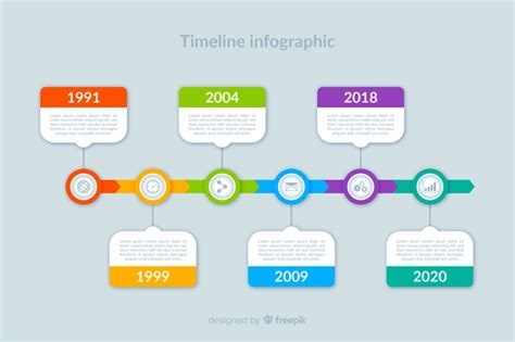 colorful modern timeline infographic template vector