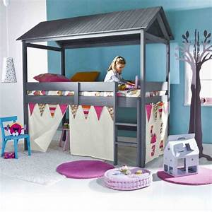 Lit Fille Cabane : lit cabane pour enfant ~ Teatrodelosmanantiales.com Idées de Décoration