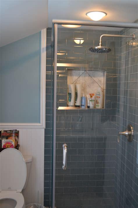 glass subway tile bathroom ideas gray glass subway tile subway tile showers subway