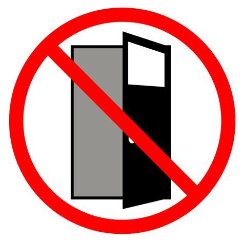 ドア開けたまま禁止|貼り紙イラスト|警告|注意