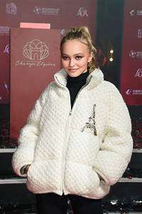 Lily Rose Depp - Champs Elysees Christmas Lights Launch in ...