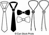 Bolo Bow Groom Ties Cowboy Clip Business Vector Illustration Lapel Shirt Grooming Illustrations Clipart Royalty Gograph Canstockphoto Drawings sketch template