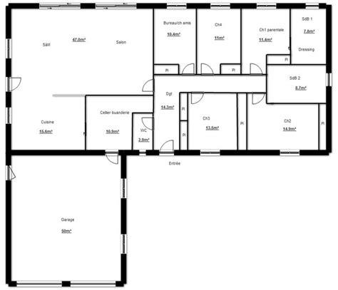 maison plein pied 4 chambres les 25 meilleures idées de la catégorie plan maison plain