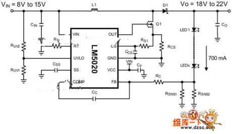 High Power Led Driver Boost Regulator Circuit Diagram