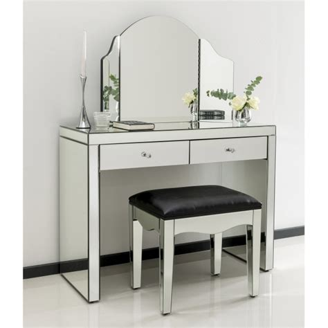 mirrored vanity table romano mirrored dressing table set venetian 4167