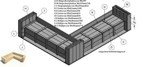 hoekbank steigerhout zelf maken tekening steigerhouten meubelen zelf maken gratis bouwtekeningen