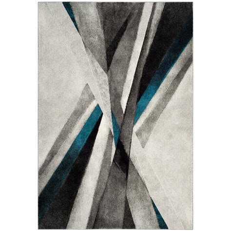 Teal And Gray Area Rug by Safavieh Gray Teal 6 Ft 7 In X 9 Ft Area Rug
