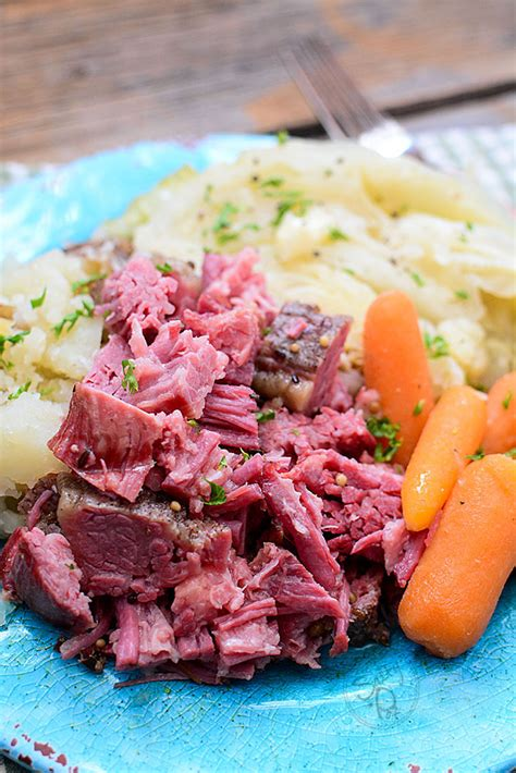 Stir in potatoes and carrots; Instant Pot Shredded Corned Beef and Cabbage Recipe