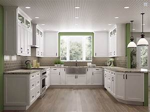 Shaker White or Antique White Kitchen Cabinets-We ship