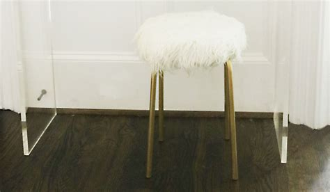 ikea bar stool hack diy ikea hack white fur stool darling darleen a lifestyle design blog