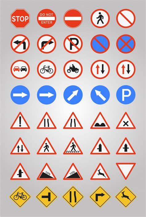 All open road sign road svg castle file free vector signs clip image download. Free Vector   Road signs icon collection