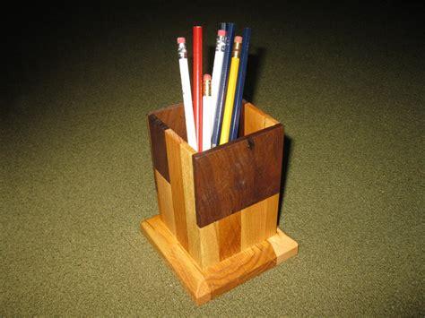 scrap wood pencil holder  paul pomerleau
