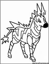 Pokemon Coloring Pages Electric Pdf Zebstrika Printable Evvie Getcolorings Getdrawings Popular sketch template