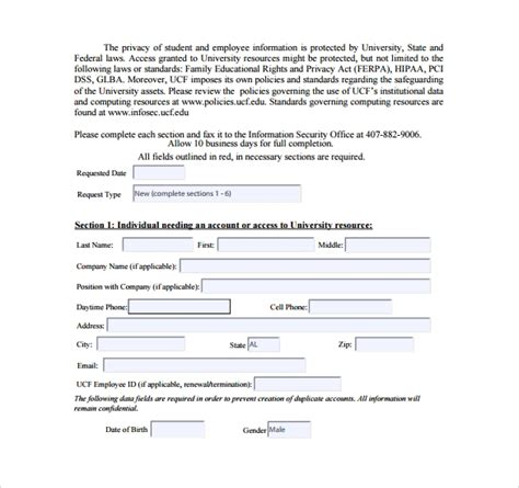 sle computer service request form 12 download free