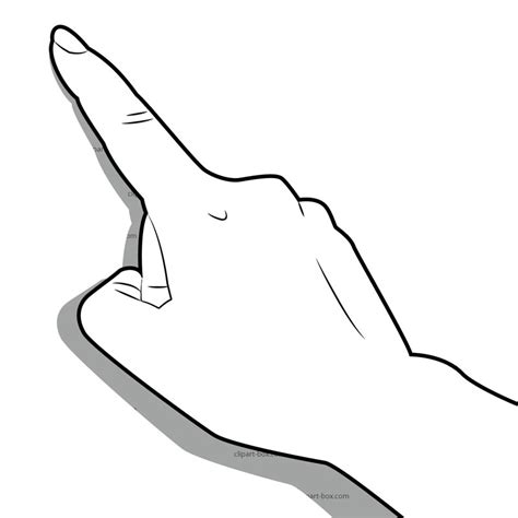 touch clipart black and white clip middle finger cliparts co