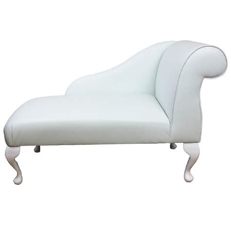 mini chaise longue sale 41 mini chaise longue in a white faux leather