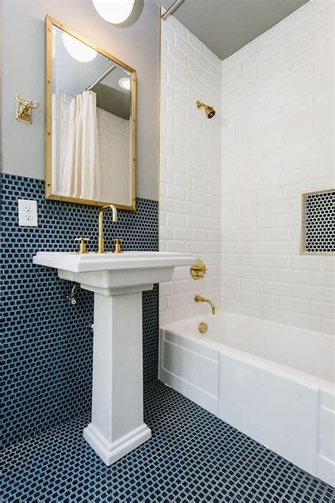 blue ceramic tile interiors   blue penny tile