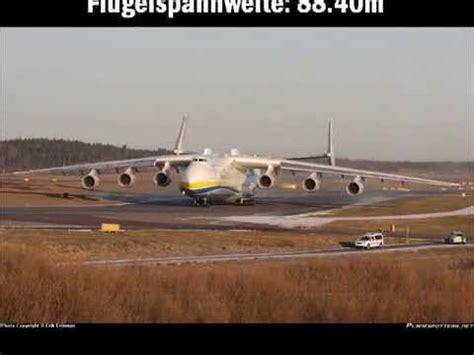 Die 5 Grössten Flugzeuge Der Welt Youtube
