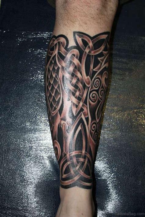 cool celtic tattoos design  leg