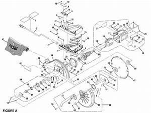 Ts1344l Ryobi Miter Saw Exploded View Parts Diagram