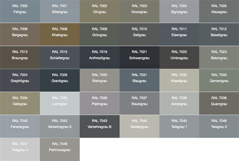Ral Farben Grautöne by Ral 7005 Search Color Charts