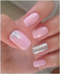100 Delicate Wedding Nail Designs | Pink glitter, Nail ...