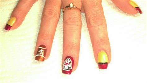 kansas city chiefs kansas city  nail art  pinterest