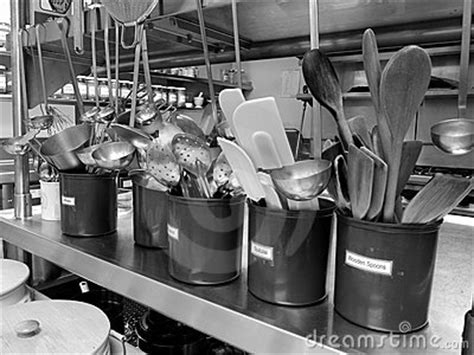 commercial kitchen utensils royalty  stock image