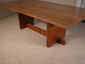 Custom wood slab coffee tables dumond39s custom furniture for Rustic cherry coffee table