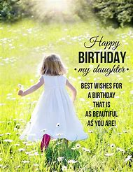 Happy Birthday Wishes To My Daughter