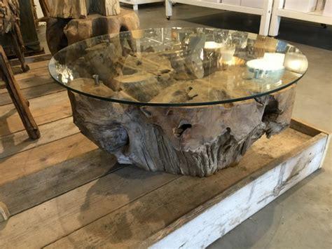 Couchtisch Massivholz Rund by Couchtisch Rund Wurzelholz Tisch Rund Massivholz Und Glas