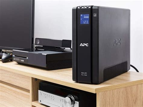 apc back ups pro 1500va ups battery backup surge protector br1500g home audio