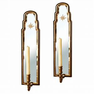 Pair, Of, Vintage, Chapman, Mirrored, Sconces, On, Antique, Row, -, West, Palm, Beach