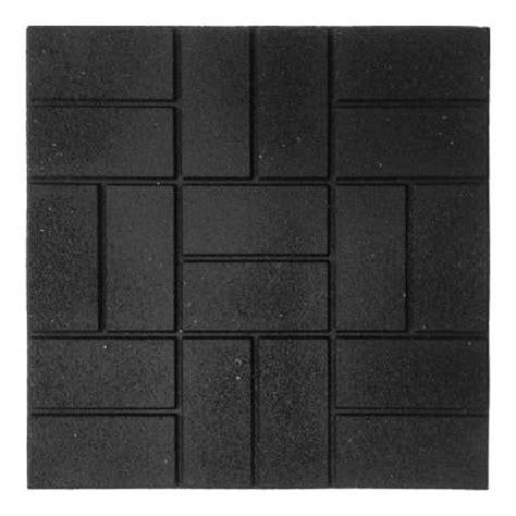 envirotile 24 in x 24 in xl brick black paver mt5001194