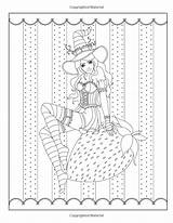 Coloring Witch Adult Witches Halloween Spellbinding Fantasy Volume Burnette Fairy Grimm Tales Nikki sketch template