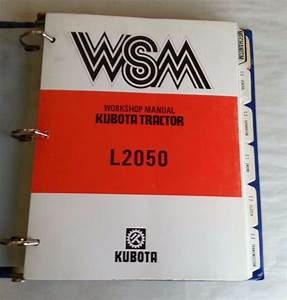 1987 Kubota L2050 Tractor Workshop Service Manual