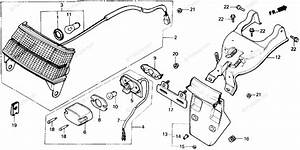 Honda Scooter 1985 Oem Parts Diagram For Taillight