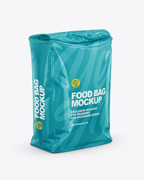 Today we are delighted to share free snack packaging mockup psd 2018 to give your snacks designs a professional and real look. Glossy Food Bag Mockup - Half Side View | Exclusive Mockups