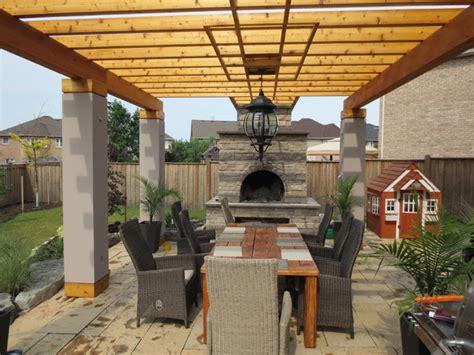 Outdoor Patio Spaces by Outdoor Living Space Pergola Mediterranean Patio