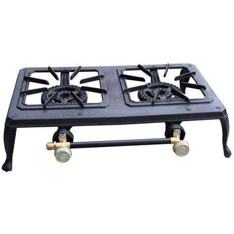 burner outdoor cast iron propane stove