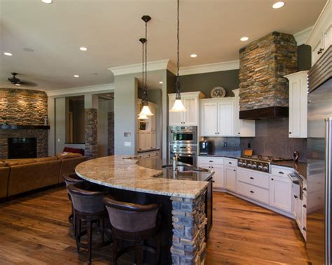 two level kitchen island open concept kitchen knoxville plumbers home