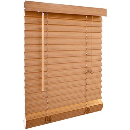 wood blinds walmart richfield studios 2 quot printed fauxwood blinds honey oak