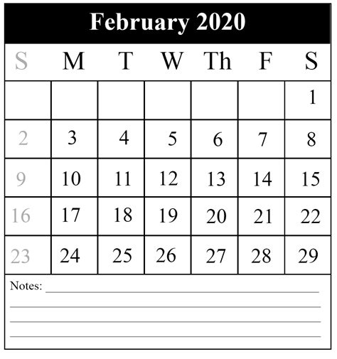 february printable calendar pdfexcel word