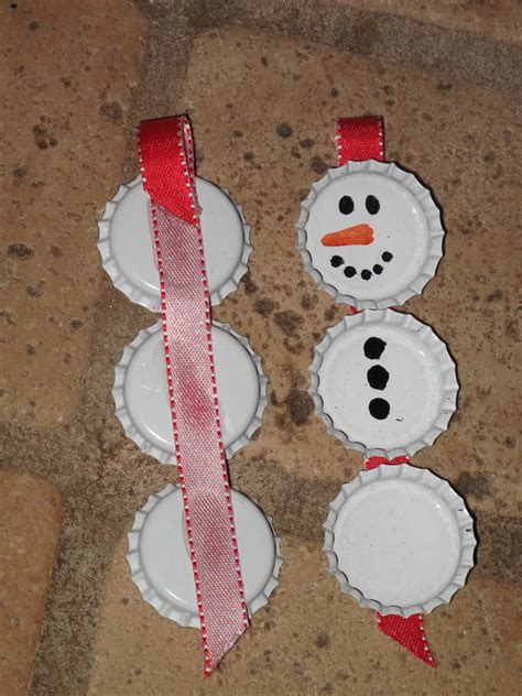 hidden treasure bottle cap christmas ornaments